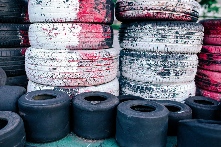 Old wheels Close-up Decadent Focus On Foreground Large Group Of Objects No People Old Stack Still Life Tire Wheel