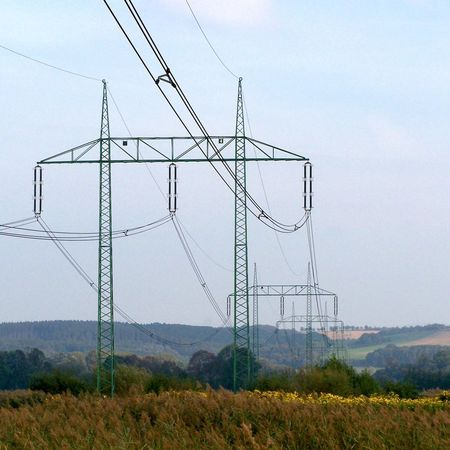 Cable Day Electricity  Electricity Pylon Fuel And Power Generation Landscape Low Angle View Mountain Nature No People Outdoors Sky Technology Tree