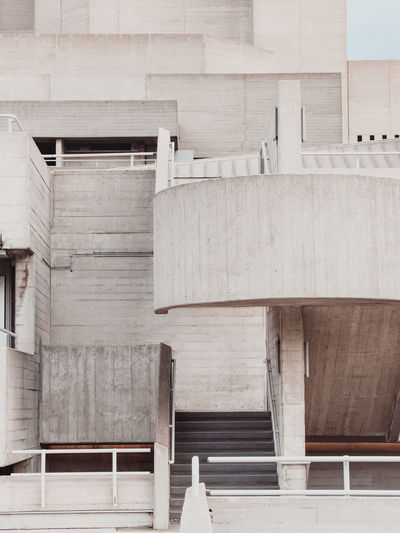 National Theatre London Architectural Feature Architecture Brutalism Built Structure City Life Day Grey Layers Modern Modern Architecture No People Outdoors Stairs Texture Textures And Surfaces
