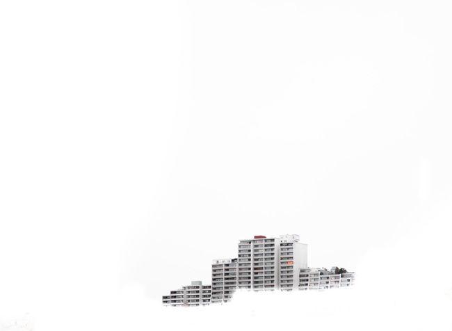 Plattenbau. 0711 Architecture Building Exterior Canon 5d Mark Lll Clear Sky Constantinschiller Herrschiller Max-eyth-see Minimalism Minimalismus Minimalist Minimalistic Plattenbau Single Object Stuttgart Urban Waschbeton White Background