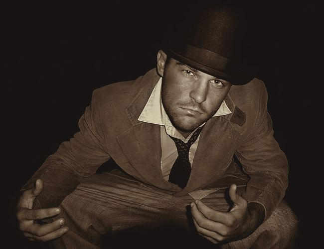 Gangsters Paradise Old School Showcase: January Night Suit Suitup Vintage Top Hat Hat Sepia Blackandwhite Face One Person What Suitedman Suitedup Authentic The Magic Mission