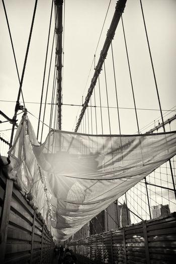 Repairs to the Brooklyn Bridge. Blackandwhitephotography Black & White Blackandwhite Brooklyn Brooklynbridge Brooklyn Bridge / New York Brooklyn Bridge  Construction Repairs Bridge