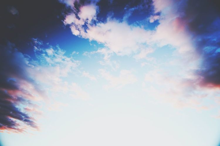 Sky Cloud - Sky Low Angle View Blue Dramatic Sky Nature Backgrounds Cloudscape Scenics Outdoors Sky Only Sunset Sunlight Beauty In Nature Summer Multi Colored No People Day EyeEmBestPics Trivandrumdiaries EyeEmNewHere