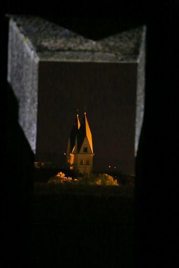 Church Church Towers Illuminated Illumination Indoors  Night No People Perspective Window