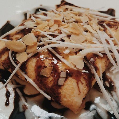 Thèm khát 10 tháng+ n ngày mới đc ăn 😆😆😆 Susfoodtrip Foodporn Foodyhanoi Lozihn Lozi Crêpes Durian Chocolate Vanilla Sauce Yummy Homecookbb Vscocam