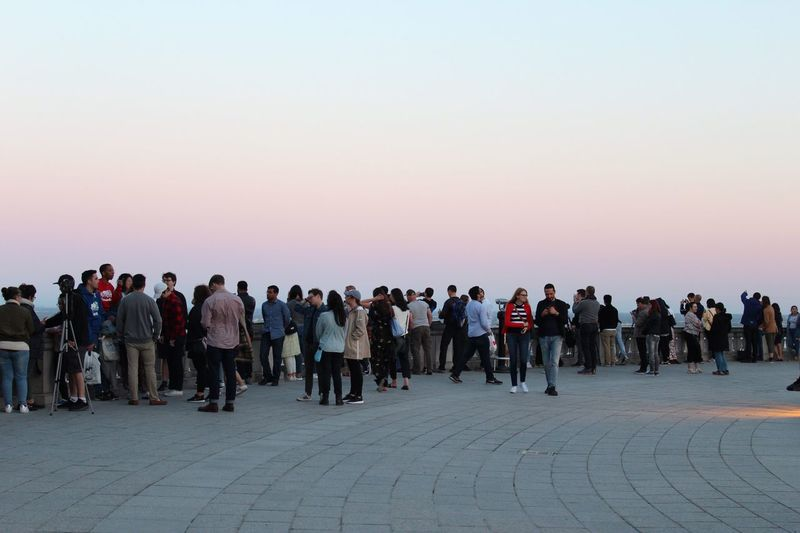 People Montréal Colorful Sky Sunset Lifestyles Canonphotography Crowd Group Of People Men Adult