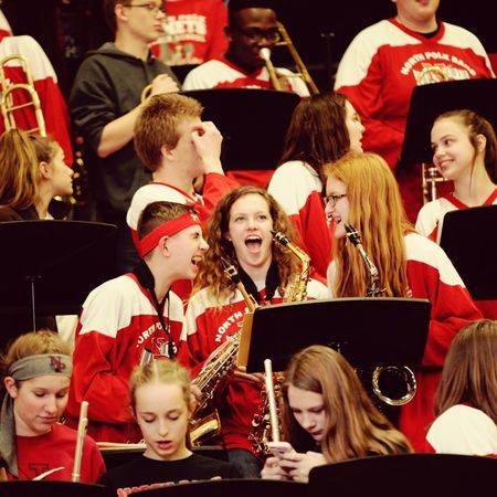 pep band!!! Archival Teenager Teenage Girls Arts Culture And Entertainment Indoors  Medium Group Of People People