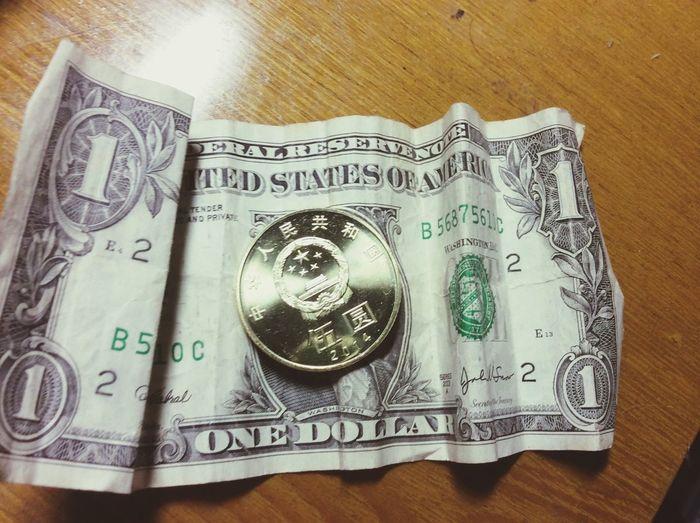 五元硬币!