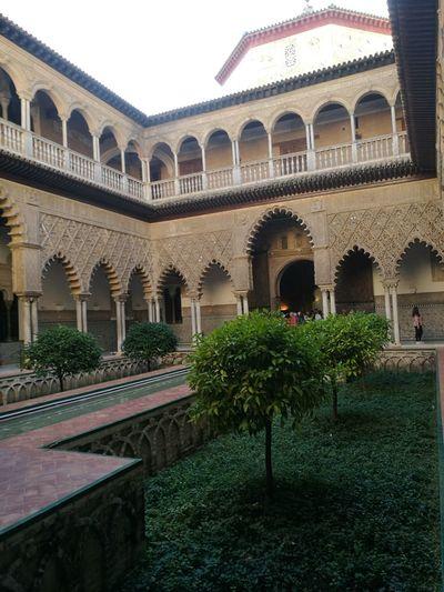 Alcázares De Sevilla Fuente Sevilla Mudejar Art Jardin EyeEmNewHere Arch Architecture Architectural Column Travel Destinations History Built Structure Day