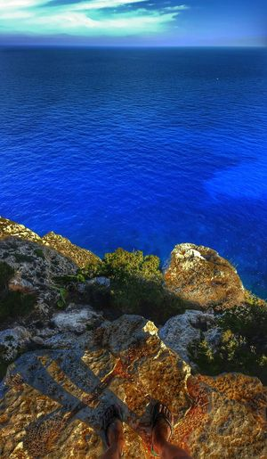 Sea Horizon Over Water Water Blue Nature Rippled Coastline Beauty In Nature Tranquility Beach Shore Idyllic Formentera