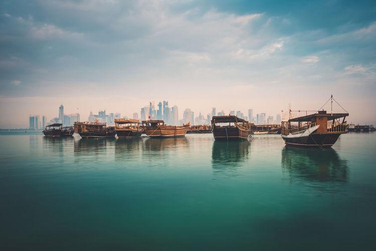 Dhow in doha corniche, qatar