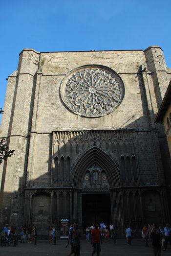 Adult Adults Only Arch Architecture Barcelona Barcelona, Spain Building Exterior Catalonia Catalunya Church Clock Day Entrance Façade Large Group Of People Old Buildings Old Town Outdoors People SPAIN Time Travel Destinations
