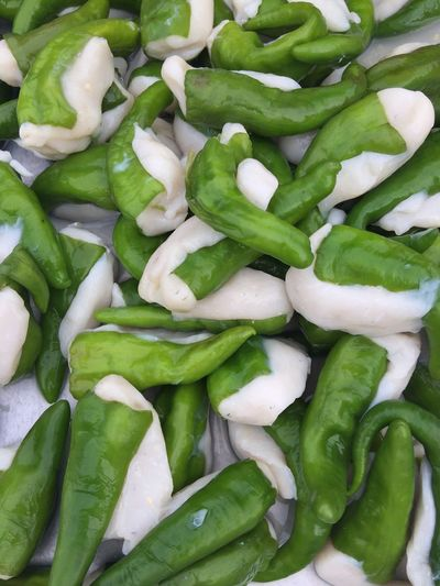 Green chilli with fish paste Chilli Natural Beauty Meal Fish Paste Green Color