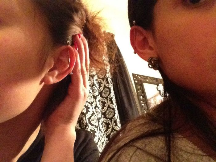 Mine & my bestfriends piercing