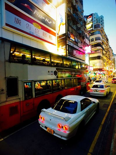 IPhoneography Cityscape Hong Kong Architecture Sky And Clouds Light And Shadow Street Photographer-2016 Eyem Awards Streetscape Mongkok City At Dusk Hong Kong Skyline Traffic Jam
