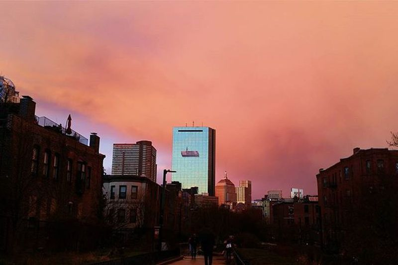 Boston ❤ Boston Backbay Johnhancockbuilding Bostonweather Instapretty Colorful Clouds Igboston Igersboston VSCO Vscocam