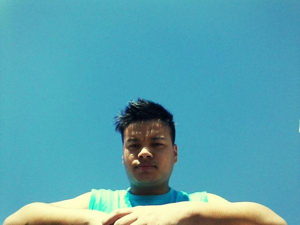open blue sky
