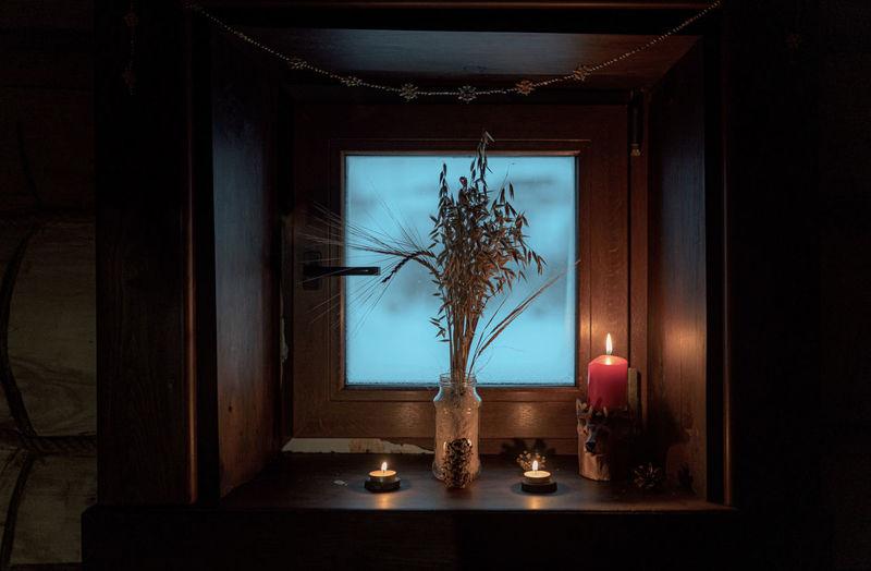 Candle light window