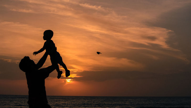 father son love Adult Adventure Beach Beauty In Nature Cloud - Sky Father & Son Horizon Over Water Horizontal Kiteboarding Leisure Activity Men Nature Outdoors People Person Photography Scenics Sea Silhouette Sky Sport Sunset Vacations Water Wave