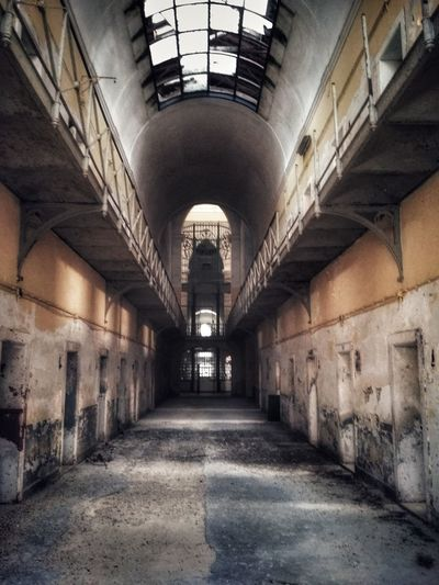 The Way Forward Indoors  Architecture History Built Structure No People Prison Day Old Prison Old Prison Photography Abandoned Abandoned Places Abandoned Buildings