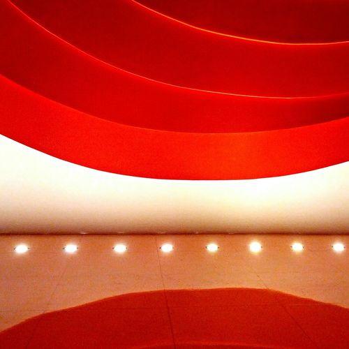 Auditório Ibirapuera Architecture Auditorium Lights Red