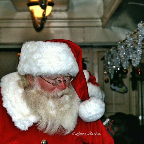 Believe! Santa Claus boards the Polar Express train with a bell for every child... Christmas Believe Santa Claus Polar Express Train