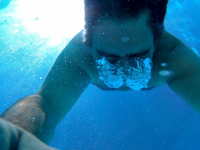 A great day at the Pool Blue Blue Water Bubbles Day Home Is Where The Art Is Just Me Myself Swimming Pool Under Water Photograpgy