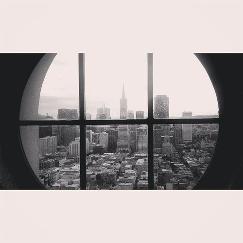 Blackandwhite Sanfrancisco Coittowerwindow Instapic