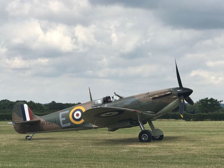 Military Airplane Spitfire, Fighter WW2, Vintage, RAF, Pilot, Flying, Airfield, Speed, Grace, Beauty Ashford Kent