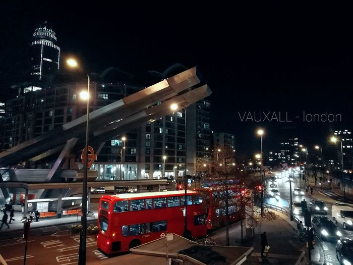 Night Illuminated Transportation Red Traffic City Mode Of Transport Bridge - Man Made Structure Rush Hour Outdoors Sky London City