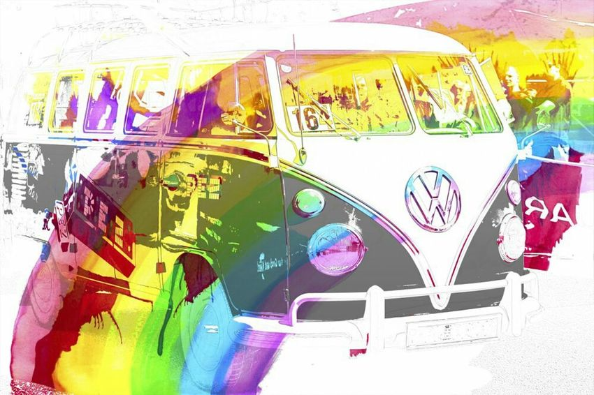 every thing has two sides..but now we focus on the pretty things Getting Creative Getting Inspired Hippie Color_boom VW Water Colour Untold Stories
