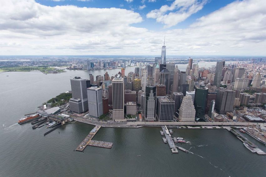 Drone  Helicopter Manhattan Manhattan Skyline Manhattan New York New York New York City New York ❤ Skyline The Big Apple Aerial View Architecture Building Building Exterior Built Structure City Cityscape Cloud - Sky Day Financial District  High Angle View Manhattan Bridge Modern Nature No People Office Building Exterior Outdoors Sea Sky Skyscraper Tall - High Transportation Urban Skyline Water Waterfront