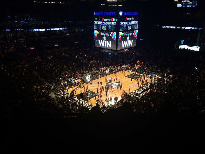 NBA Basketball Brooklyn Nets Sacramento Sport Stadium Darkness And Light New York