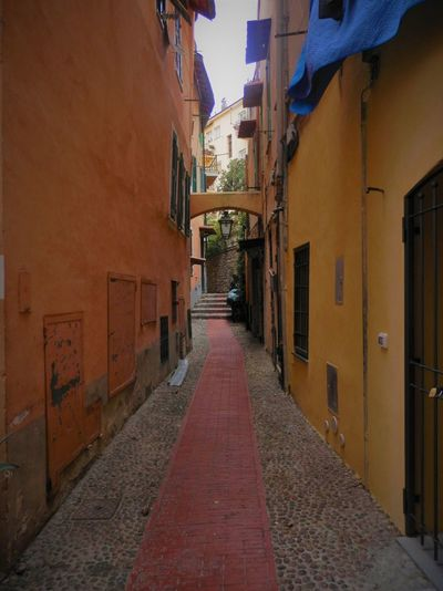Italy San Remo Architecture Built Structure Building Exterior The Way Forward Alley Residential Building No People Day Outdoors Walkway