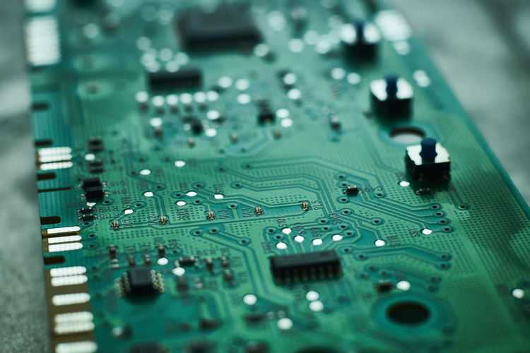 Circuit Board Close-up Computer Chip Computer Equipment Computer Part Day Electronics Industry Green Color Mother Board No People Technology