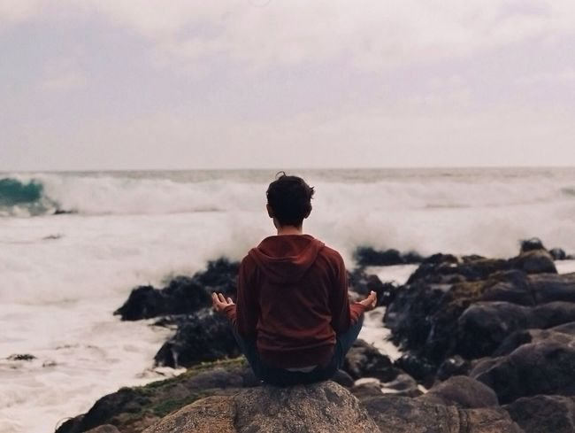 To think about... (http://instagram.com/pablopoulain) Meditating Meditation Back Peace