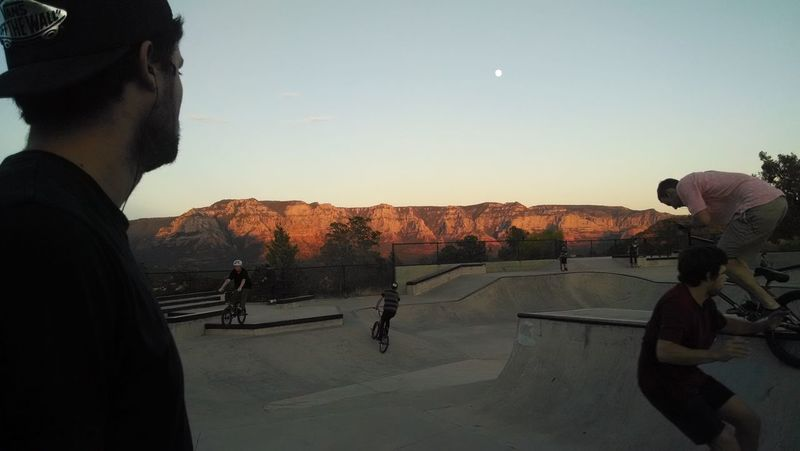 Riding. AZ Sedona Skatepark Supermoon