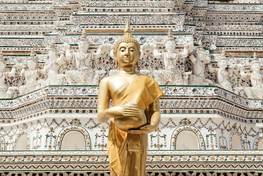 Bangkok Bangkok Thailand. Gold Statue Thailand Day Gold Colored Golden Color Human Representation Idol Male Likeness No People Outdoors Place Of Worship Religion Sculpture Spirituality Statue Travel Destinations
