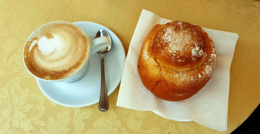Breakfast Breakfast Brioche Cappuccino Coffee - Drink Coffee Cup Food Food And Drink High Angle View Indoors  Italy No People Table