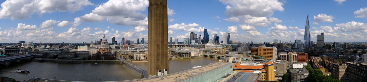 view from the Tate Modern Aahhh London! River Thames Architecture Built Structure Cityscape Cloud - Sky Splendid Cloudy Sky Urban Skyline Wow Effect On Me EyeEm In London