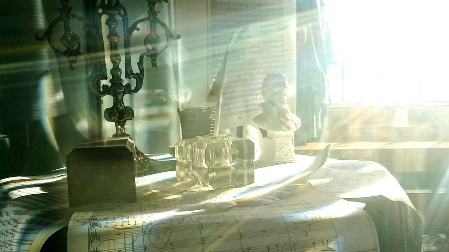 Close-up Sun Feather  Feather Writing Notes Music Diez Vocalise Inkwell Ink Reflection Sunlight Lens Flare Art Is Everywhere