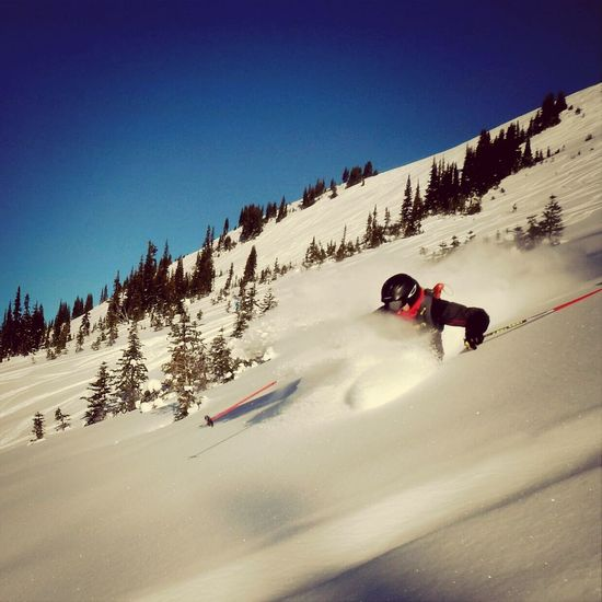 Backcountry Touring Turns // Nick Geddes getting deep on Cowboy Ridge in Whistler, BC Winter White By CanvasPop