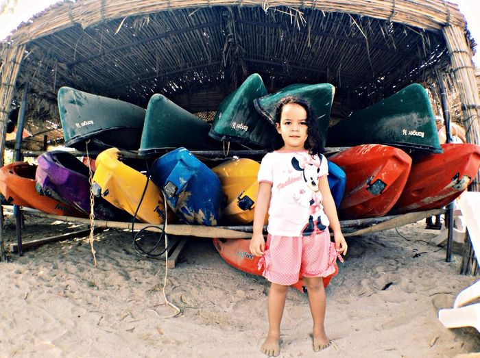 the Kayak kid.. Colors People Beach