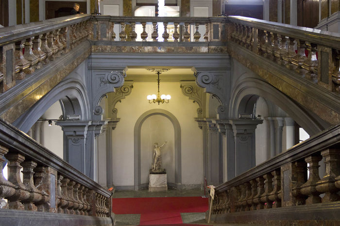 Historic Palazzo Litta staircase in Milan, Italy Litta Milano Palazzo Litta Stairway Steps Architecture Baroque Baroque Architecture Building Built Structure Historic Historic Building Indoors  Interior Italy Milanese No People Palace Staircase stairways Steps And Staircases