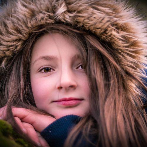 Portrait Beautiful Woman Child Beauty Warm Clothing Blond Hair Beautiful People Young Women Cold Temperature Headshot Hazel Eyes