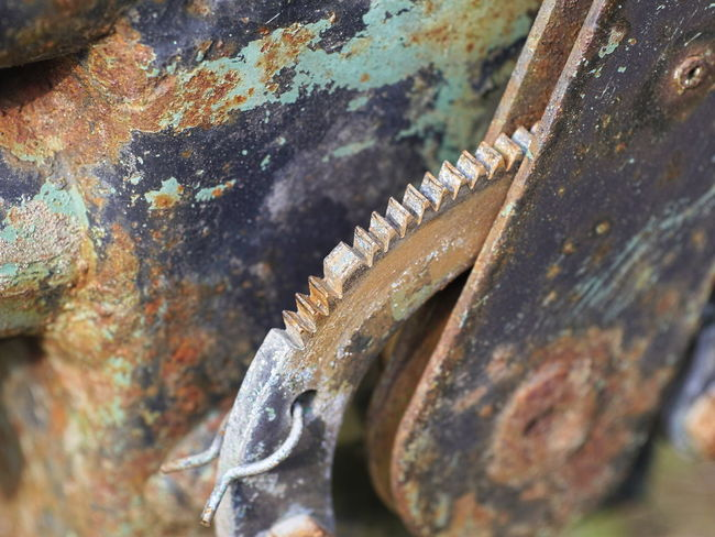 Abandoned Close-up Day Decline Equipment Germany Metal Metal Structure Nature No People Old Outdoor Photography Outdoors Pattern Rock - Object Rusty Rusty Metal Selective Focus Serrated Solid Structure Structures Textured  Weathered Work Tool