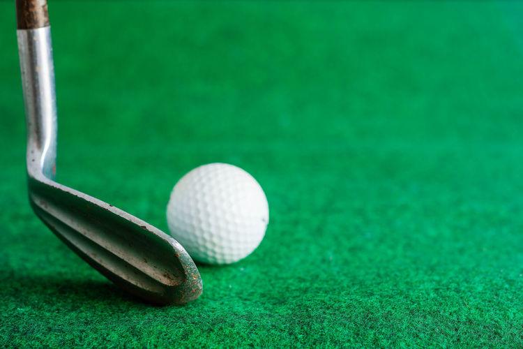 Close-up of golf