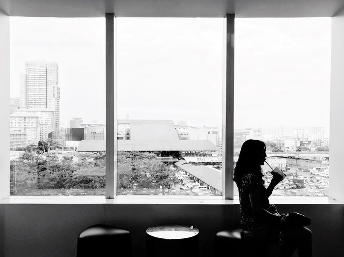 ...Me Window Looking Through Window Architecture City Monochrome Blackandwhite Eyeem Philippines Urban Landscape Buildings Adventure Buddies Silhouette Lines Creative Light And Shadow Deceptively Simple