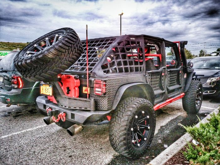 Jeep Offroad Car 4x4 New York NY Clouds HDR Custom Truck