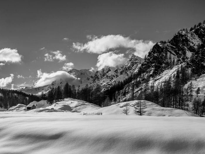 BW. No comment. Snow Cold Temperature Sky Scenics - Nature Mountain Winter Cloud - Sky Tranquil Scene Tranquility Landscape No People Beauty In Nature Blue Scenics Nature EyeEm Best Shots EyeEmNewHere EyeEm Nature Lover EyeEm Selects EyeEm Gallery Winter Tranquility Relaxing Blackandwhite Black And White